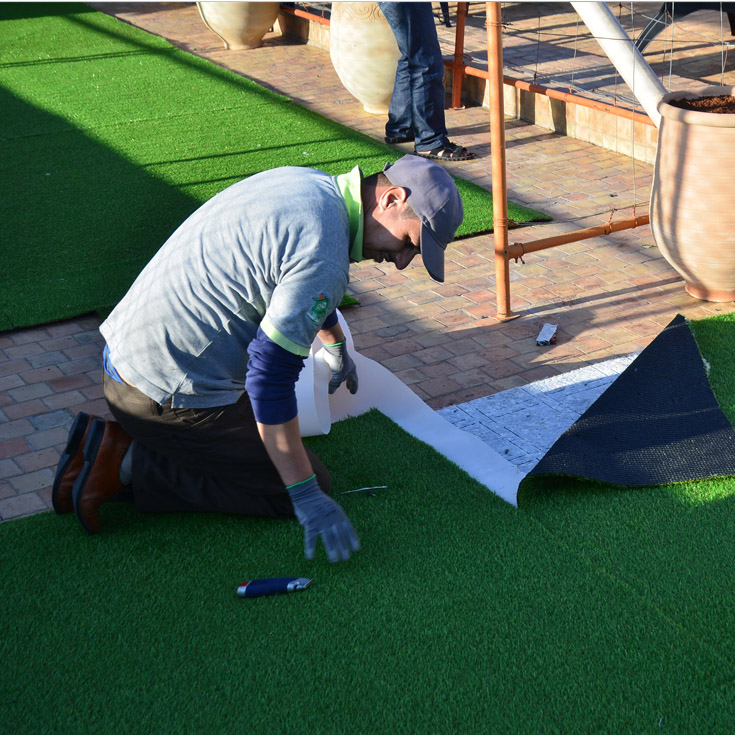 Adding artificial grass surface